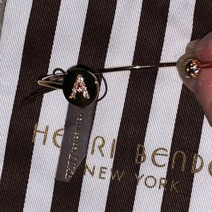 "henri bendel Jewelry - NWT Henri Bendel luxe monogram gold ""A"" cuff"